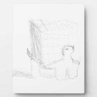 cube en tortue de boîte dessinant Eliana Plaque Photo