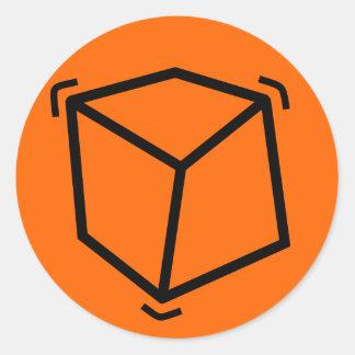 Cube en vibrateur adhésifs ronds