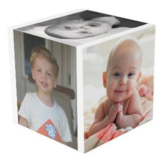 Cube fait sur commande en photo avec des images et