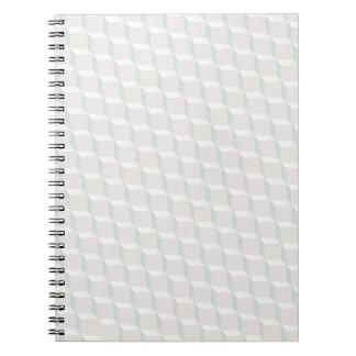 Cubes blancs carnets à spirale