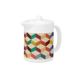 Cubes colorés avec le motif de recouvrement de