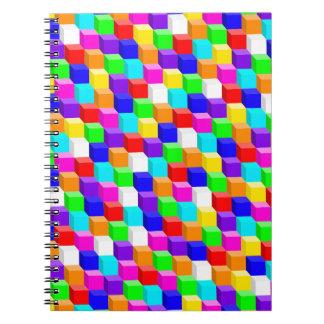 Cubes colorés carnets à spirale
