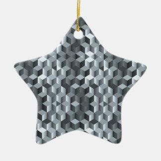 Cubes gris, formes géométriques, conception ornement étoile en céramique