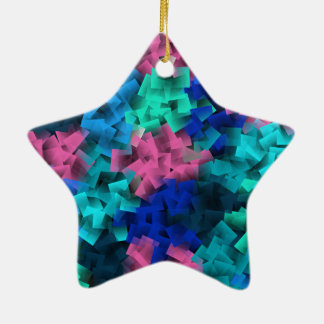 Cubisme, style d'art et peinture, ornement étoile en céramique