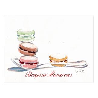 Cuillerée de Macarons Carte Postale