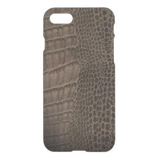 Cuir classique de reptile d'alligator (Faux) Coque iPhone 7