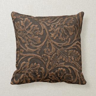 Cuir de relief rustique oreillers