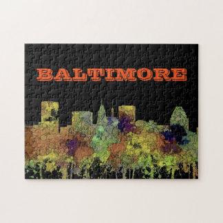 Cuir épais de safari d'horizon de Baltimore le Puzzle