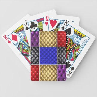 Cuir et collage plissés multicolores de Bling Jeu De Poker