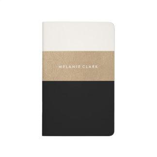 Cuir et noir d'or carnet de poche