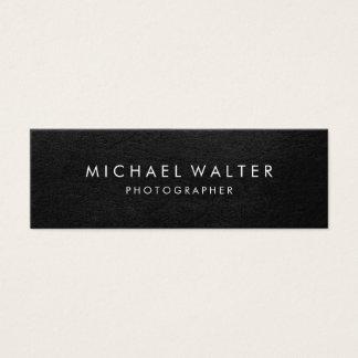 Cuir minimaliste professionnel de Faux Mini Carte De Visite