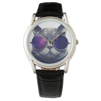 Cuir noir classique fait sur commande montres bracelet
