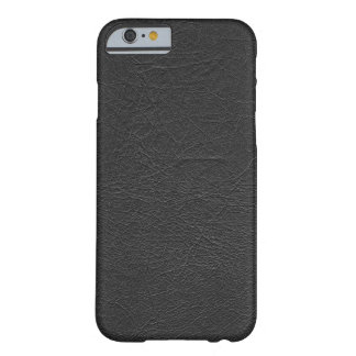 Cuir noir coque iPhone 6 slim