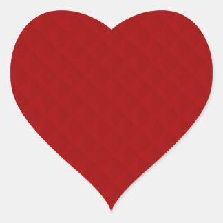 Cuir piqué par rouge rouge autocollants en cœur