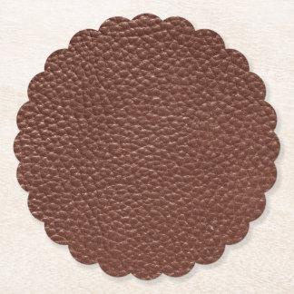 Cuir porté par Faux de Brown Dessous-de-verre En Papier