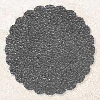 Cuir porté par Faux noir Dessous-de-verre En Papier