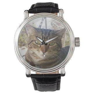 cuir vintage noir de lachlantopcat montre