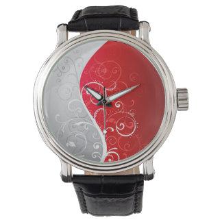 Cuir vintage noir fait sur commande montres bracelet