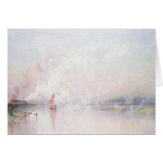 Cuisant à la vapeur dans Lincoln, 1894 Carte De Vœux