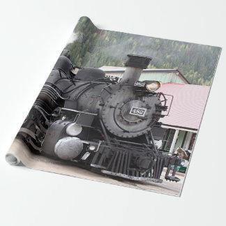 Cuisez le moteur à la vapeur de train, le papiers cadeaux noël