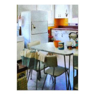 Cuisine d'années '50 carton d'invitation  12,7 cm x 17,78 cm