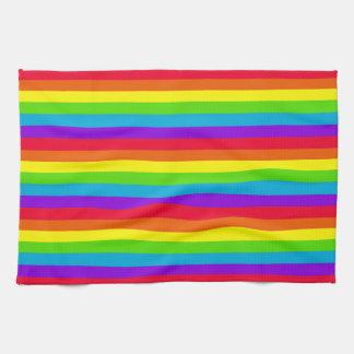 Cuisine d'arc-en-ciel/serviette de main rayées serviettes éponge