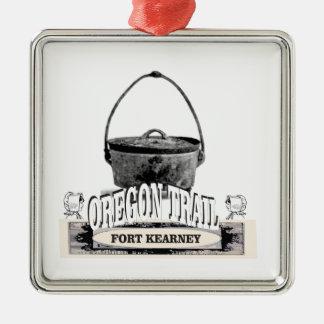 cuisine de kearney de fort ornement carré argenté