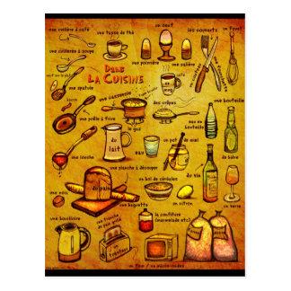 Cuisine de La de Dans - carte française de vocab