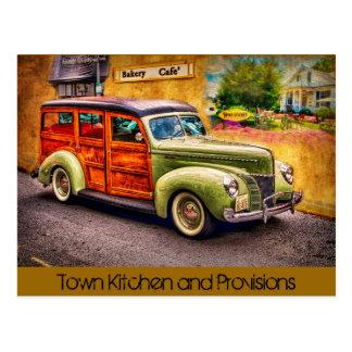 Cuisine de ville carte postale