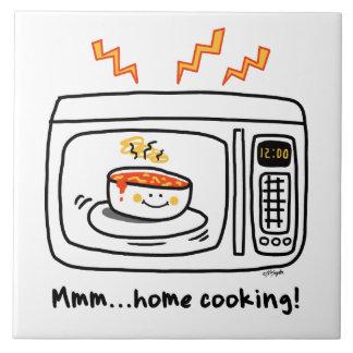 Cuisine familiale drôle de micro-onde carreau