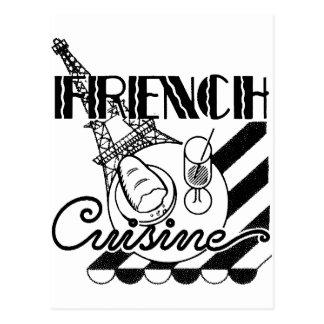 Cuisine française carte postale