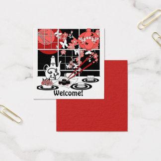 Cuisine japonaise carte de visite carré