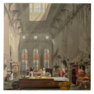 Cuisine, le palais de St James, gravé par William  Grand Carreau Carré