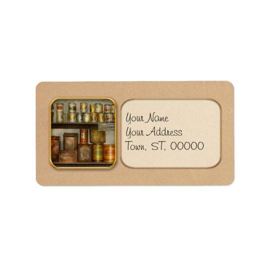 Cuisine - nourriture - garnitures étiquettes d'adresse
