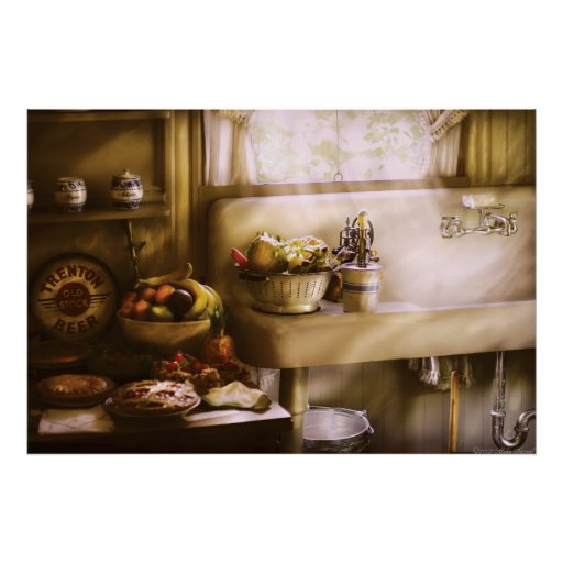 cuisine une cuisine des ann es 1930 poster zazzle. Black Bedroom Furniture Sets. Home Design Ideas