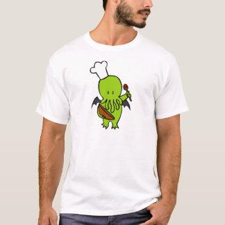 Cuisinier avec Cthulhu T-shirt