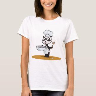 Cuisinier d'ours panda t-shirt