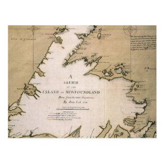 CUISINIER : TERRE-NEUVE, 1763 CARTE POSTALE