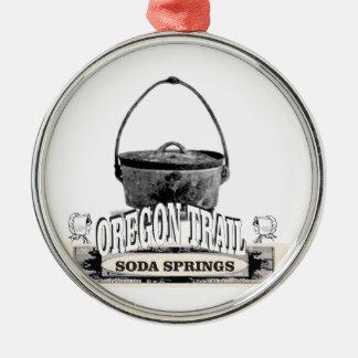 cuisson de Soda Springs Ornement Rond Argenté