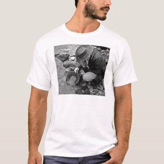 Cuisson pour l'or noir et blanc t-shirt