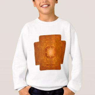 Cuivre Atlantean de métiers sur le bois ambre Sweatshirt