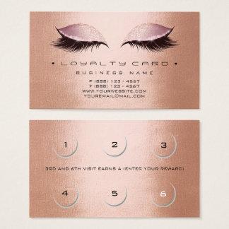 Cuivre Gol rose de maquillage de salon de beauté Cartes De Visite