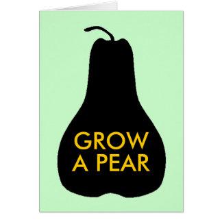 Cultivez une poire carte de vœux