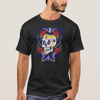 Culture de Skull Dia De Los Muertos Counter T-shirt