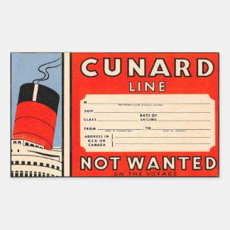 CUNARD  Line Sticker Rectangulaire