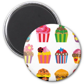 cupcakeALL Magnet Rond 8 Cm