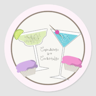 Cupcakes & Cocktails Stickers