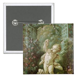 Cupidon avec des raisins badges