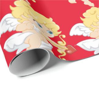 Cupidon blond papier cadeau