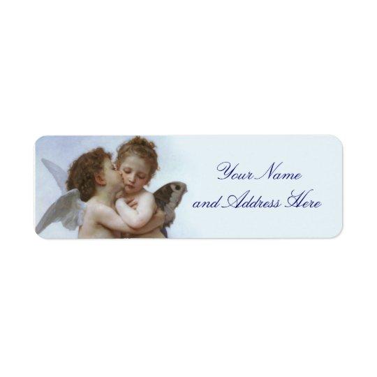Cupidon et étiquette de adresse de retour de